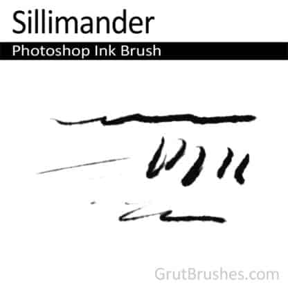 Photoshop Ink Brush for digital artists 'Sillimander'