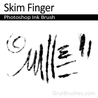 Photoshop Ink Brush for digital artists 'Skim Finger'