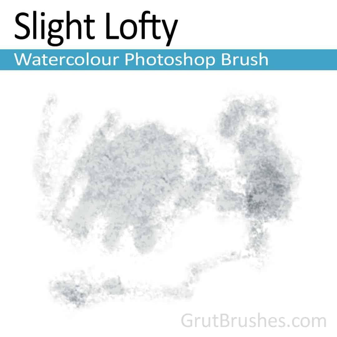 'Slight Lofty' Photoshop watercolor brush for digital painting