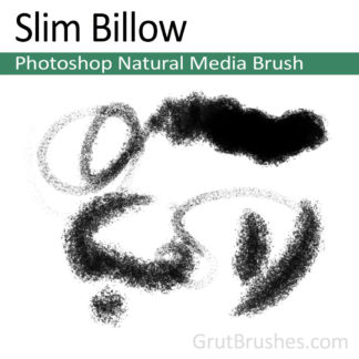 Photoshop Natural Media Brush for digital artists 'Slim Billow'