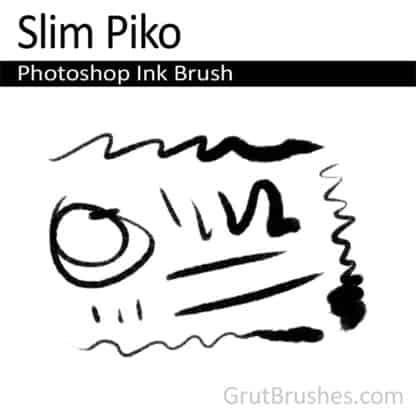 Photoshop Ink Brush for digital artists 'Slim Piko'