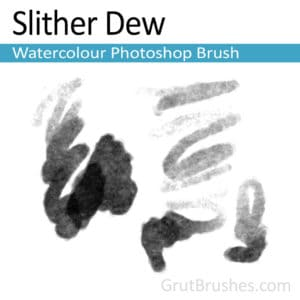 Slither Dew Photoshop Watercolor Brush. A realistic, responsive, watercolour brush for digital artists.