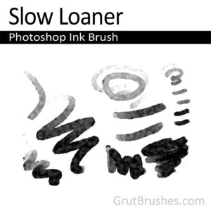 Photoshop Ink Brush for digital artists 'Slow Loaner'