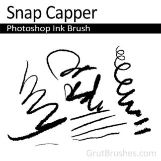 Photoshop Ink Brush for digital artists 'Snap Capper'