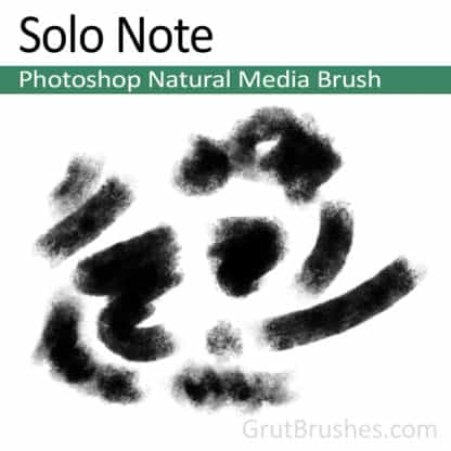 Photoshop Natural Media Brush for digital artists 'Solo Note'