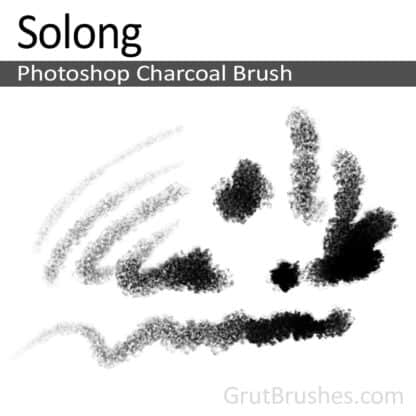 Photoshop Charcoal Brush for digital artists 'Solong'