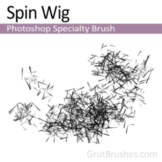 Photoshop Specialty Brush for digital artists 'Spin Wig'