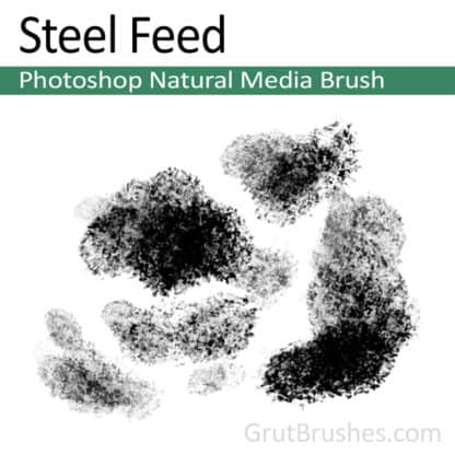 Photoshop Natural Media Brush for digital artists 'Steel Feed'