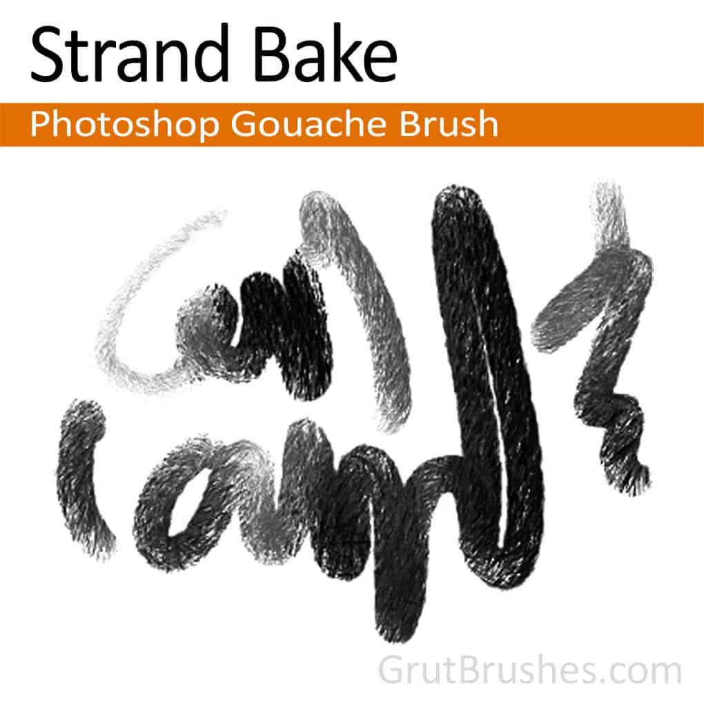 Strand Bake - Photoshop Gouache Brush - Grutbrushes.com