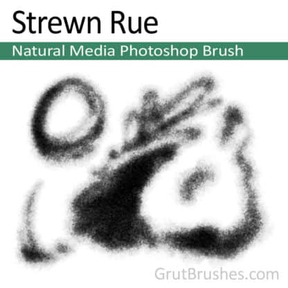 Strewn Rue - Photoshop Natural Media Brush