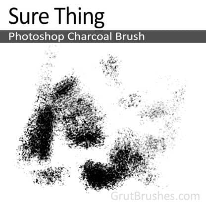 Photoshop Charcoal Brush for digital artists 'Sure Thing'
