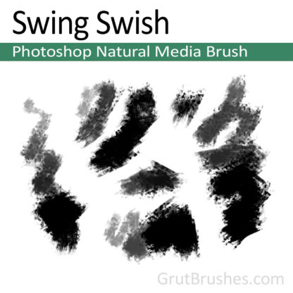 Photoshop Natural Media Brush for digital artists 'Swing Swish'