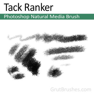 Photoshop Natural Media Brush for digital artists 'Tack Ranker'