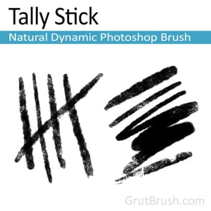 Tally Stick - Natural Media Photoshop Brush