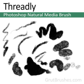 Photoshop Natural Media Brush for digital artists 'Threadly'