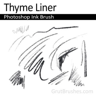 Thyme Liner - Photoshop Ink Brush