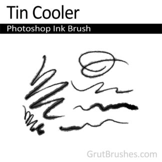 Photoshop Ink Brush for digital artists 'Tin Cooler'