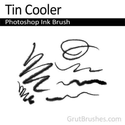 Photoshop Ink Brush for digital artists 'Tin Cooler'