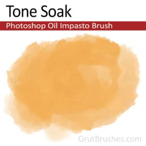 'Tone Soak' Impasto Oil Photoshop Brush for digital artists