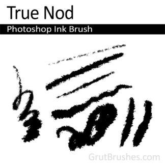 Photoshop Ink Brush for digital artists 'True Nod'