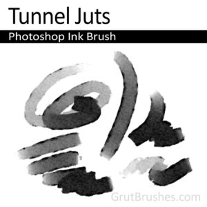 Photoshop Ink Brush for digital artists 'Tunnel Juts'