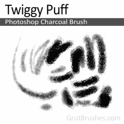 Twiggy Puff - Photoshop Charcoal Brush