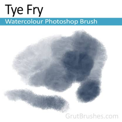 Photoshop Watercolor Brush for digital artists 'Tye Fry'