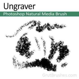 Photoshop Natural Media Brush for digital artists 'Ungraver'