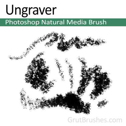 Photoshop Natural Media Brush for digital artists 'Ungraver'