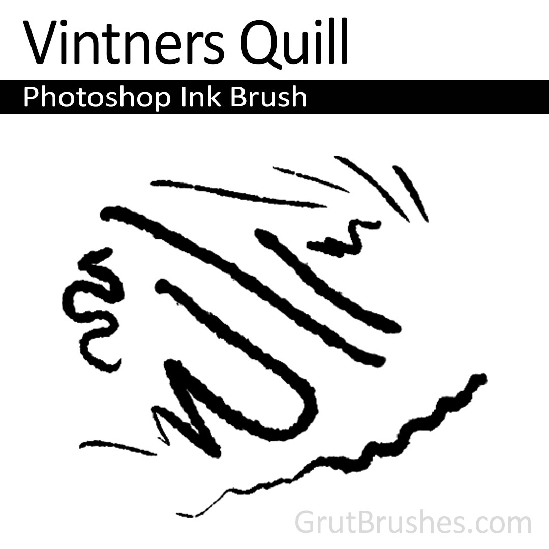 'Vintners Quill' Photoshop ink brush for digital painting
