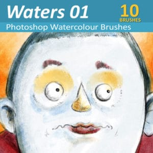 Waters 01 - Watercolor Brushes for Photoshop