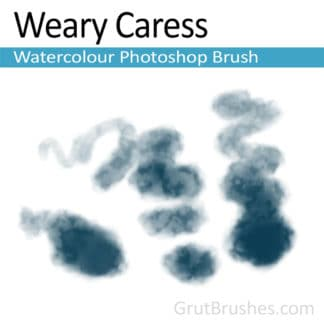 Photoshop Watercolour Brush for digital artists 'Weary Caress'