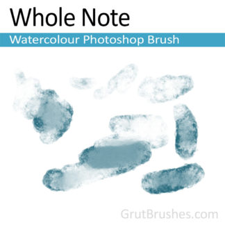 Photoshop Watercolor for digital artists 'Whole Note'