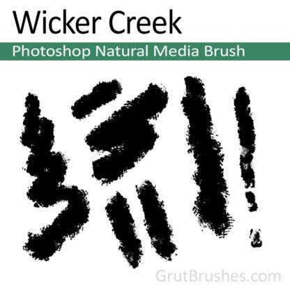 Photoshop Natural Media Brush for digital artists 'Wicker Creek'
