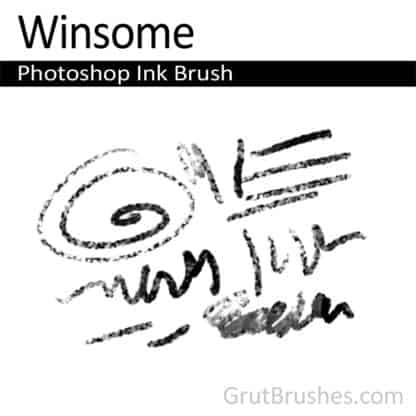 Photoshop Ink Brush for digital artists 'Winsome'