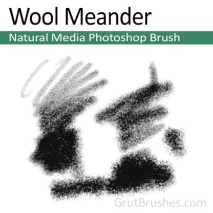 Wool Meander - Photoshop Natural Media Brush