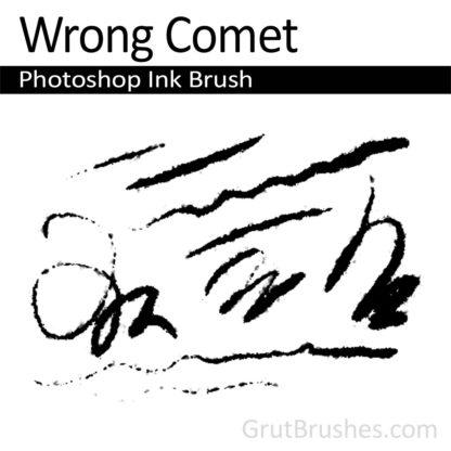 Photoshop Ink Brush for digital artists 'Wrong Comet'