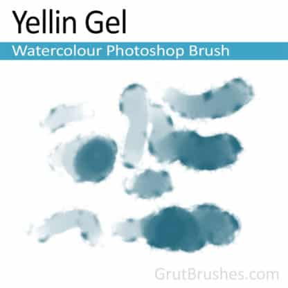 Photoshop Watercolour Brush for digital artists 'Yellin Gel'