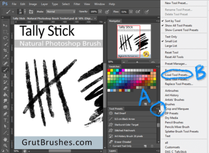How To Install Photoshop Brush Toolsets (.tpl files)