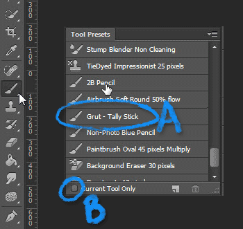 Custom Photoshop Brushes will now appear in tool Preset panel