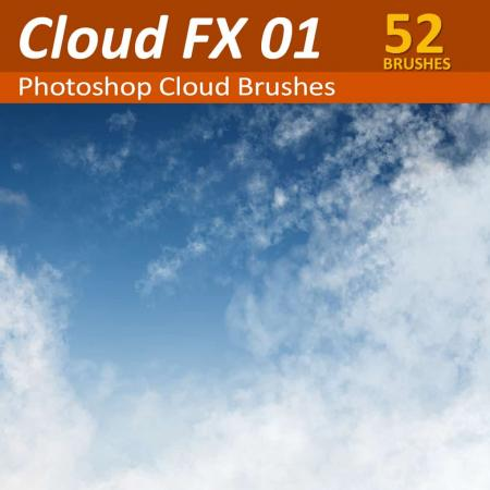 52 Photoshop Cloud Brushes