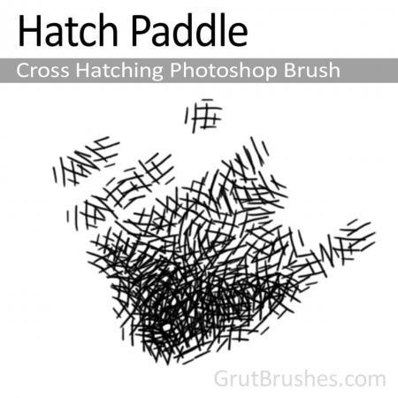 Hatch Paddle - Photoshop Cross Hatching Brush