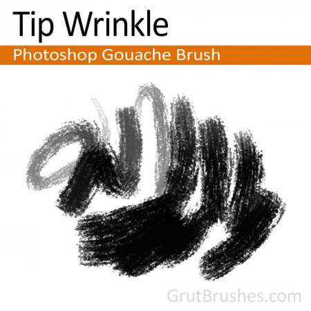 Tip Wrinkle - Photoshop Gouache Brush