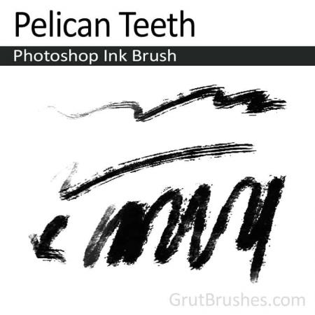 Pelican Teeth - Photoshop Ink Brush