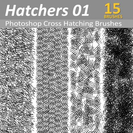 Cross Hatchers - Photoshop Cross Hatching Brushes