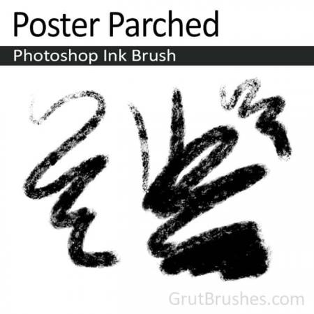 Poster Parched - Photoshop Ink Brush