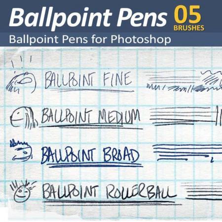 Ballpoint Pens - 4 Photoshop Ballpoint pen Brushes
