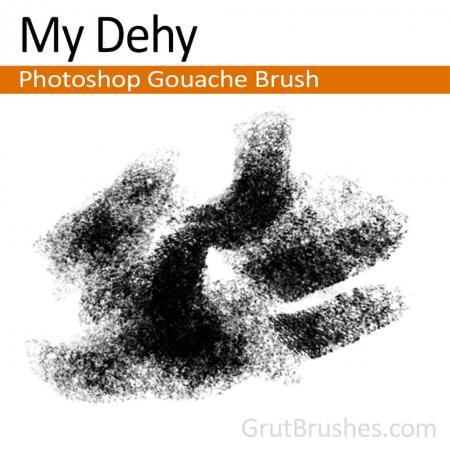 Photoshop Gouache Brush for digital artists 'My Dehy'