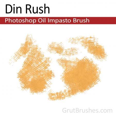 Photoshop Oil Impasto Brush for digital artists 'Din Rush'