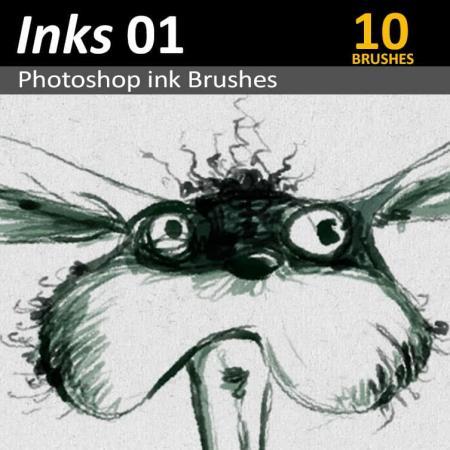 Inks 01 - Photoshop Ink Brushes
